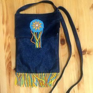 Handbags - 🌺Hippy Vintage Look Cross Body Denim Bag 8 x 6